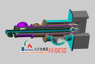 立体剖面图,解析燃气燃烧器结构